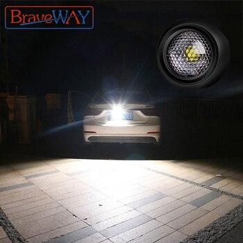 BraveWay LED Extra Reversing Light for Car Lamp Auxiliary Led Work Light 12V Fog Lamp Flood Beam LED Reverse Lights 1156 1157 T5
