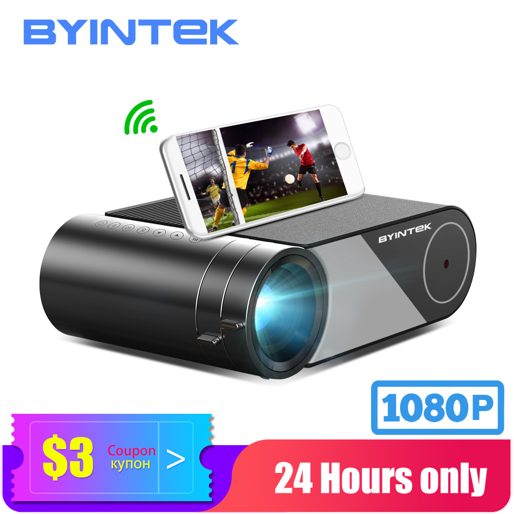 BYINTEK Mini Projector K9 ,1280x720P,Portable Video Beamer; LED Proyector For 1080P 3D 4K Cinema(Option Multi-Screen For Iphone