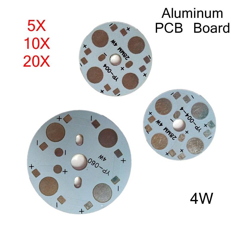 5/10/20pcs LED PCB Base 4W ,bulib Lamp Aluminum Board Panel DIY Heat Sink Low Voltage 12V For Ceiling Light Light Plate