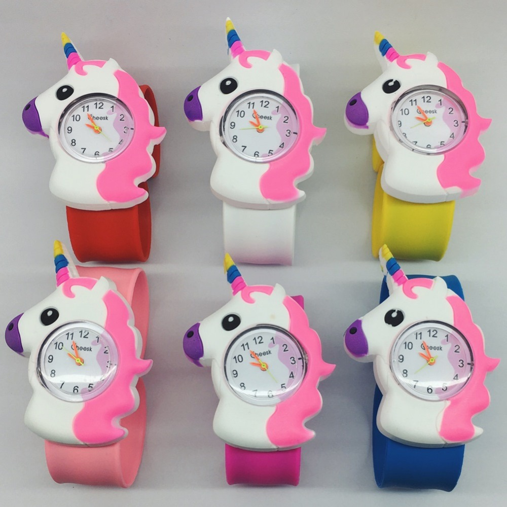 Christmas Children Watch For Boy Cartoon Rhinoceros Silicone Tape Patted Table Students Sports Bracelet Child Watches Men Clock