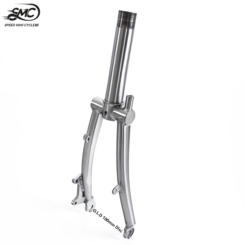 """Brompton Titanium Disc Front Fork 100mm For 16inch Folding BIke Ultralight Ti Rear Triangle Frame 1&1/8"""" Customized"""