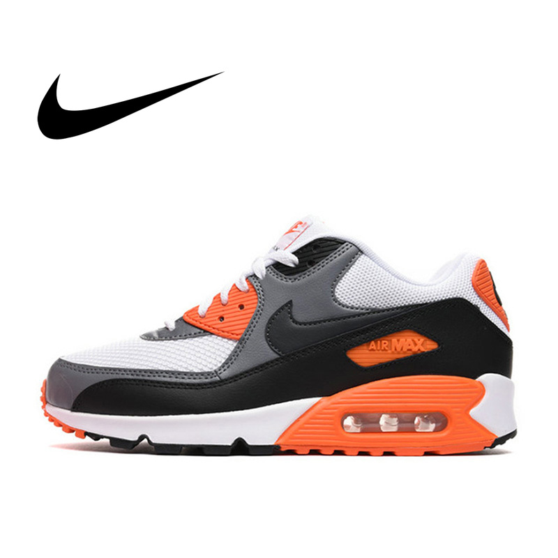 US $74.0 63% OFF|Original Authentic NIKE AIR MAX 90 Men's Running Shoes Mesh Breathable Jogging Shock Absorption Sport Outdoor Sneakers 537384 on