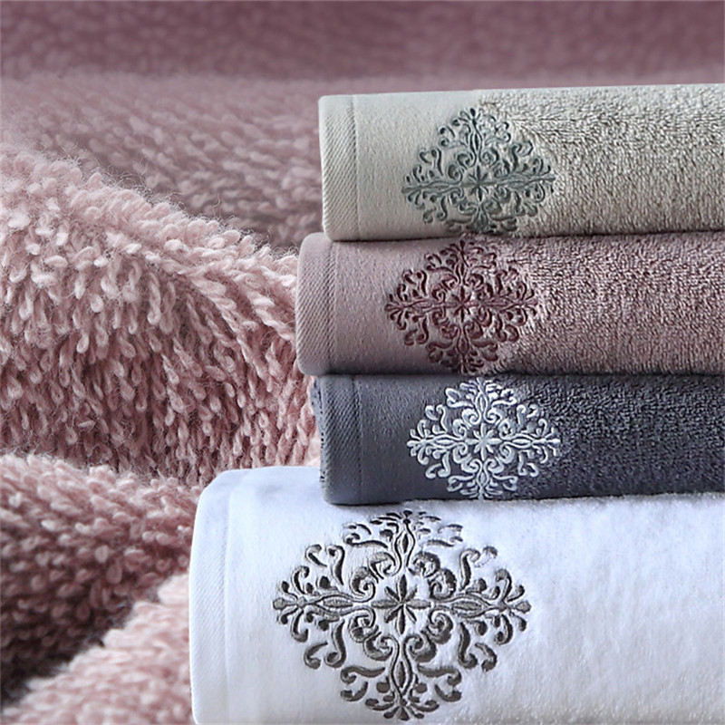 3Pcs Home Blanket Decoration Terry Wedding Gift Luxury Embroidery Adult Bath Towels Set Bathroom Large Soft Cover Hotel