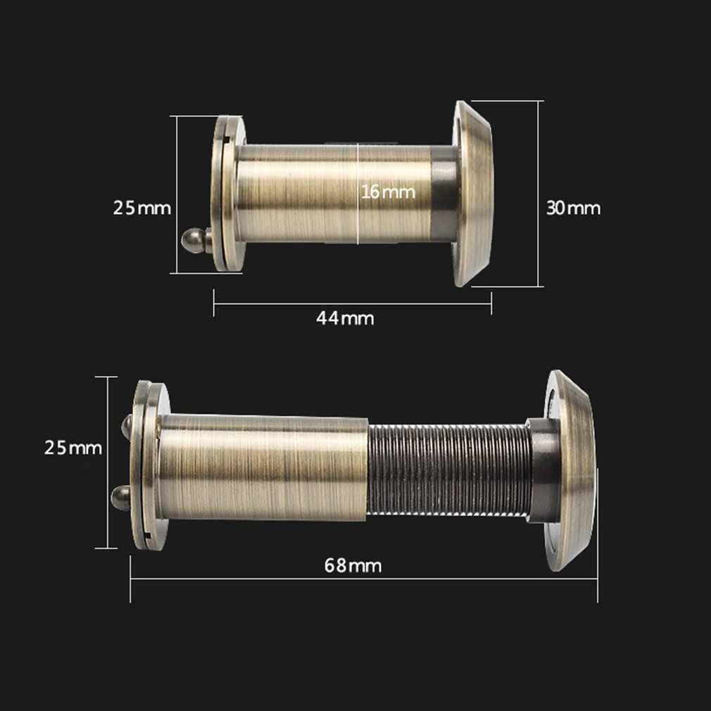 ホームセキュリティ 200 度 35-55 ミリメートルドアスコープのぞき穴ビューアのぞき光景穴広角格納式のぞき子安全