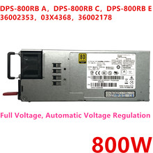 Nouveau BLOC D'ALIMENTATION D'origine Pour Lenovo RD330 340 530 630 540 640 800W Alimentation DPS-800RB UN DPS-800RB C DPS-800RB E