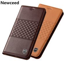 Genuine leather case for ZTE AXON 10 Pro magnetic phone bag for ZTE AXON 7 A2017 flip cover card slot holder funda flip case(China)