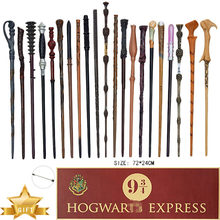 Potter metal núcleo varinhas mágicas cosplay hermione snape dumbledore varinha plataforma 9 3/4 poster como presente sem caixa