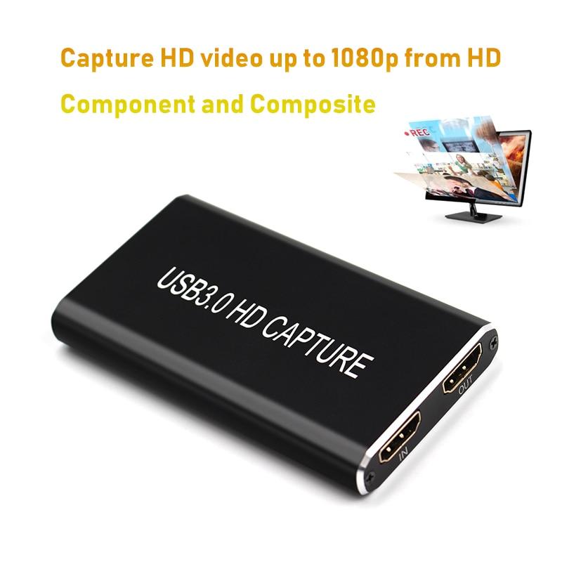 HDMI USB Video Capture Card USB3.0 1080P 60FPS Game Capture Grabber Recorder Game Streaming Live Stream Broadcast