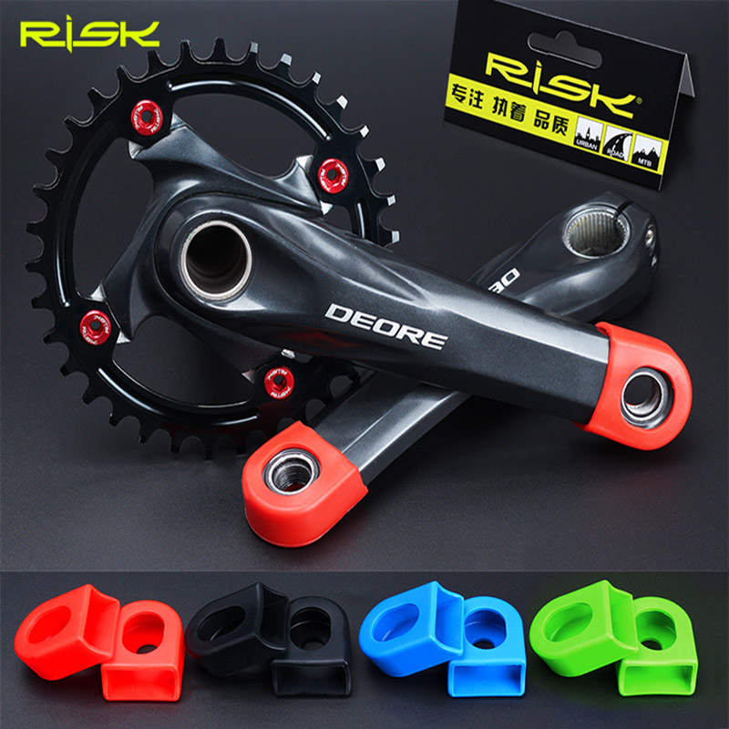 Protective Sleeve Silicon Crankset MTB Mountain Bike Crank Arm Protector