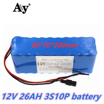 NEW High Quality Super 18650 3S10P 12.6V 26AH Rechargeable Portable Lithium-ion Battery DC 12V 26000mAh With BMS battery pack
