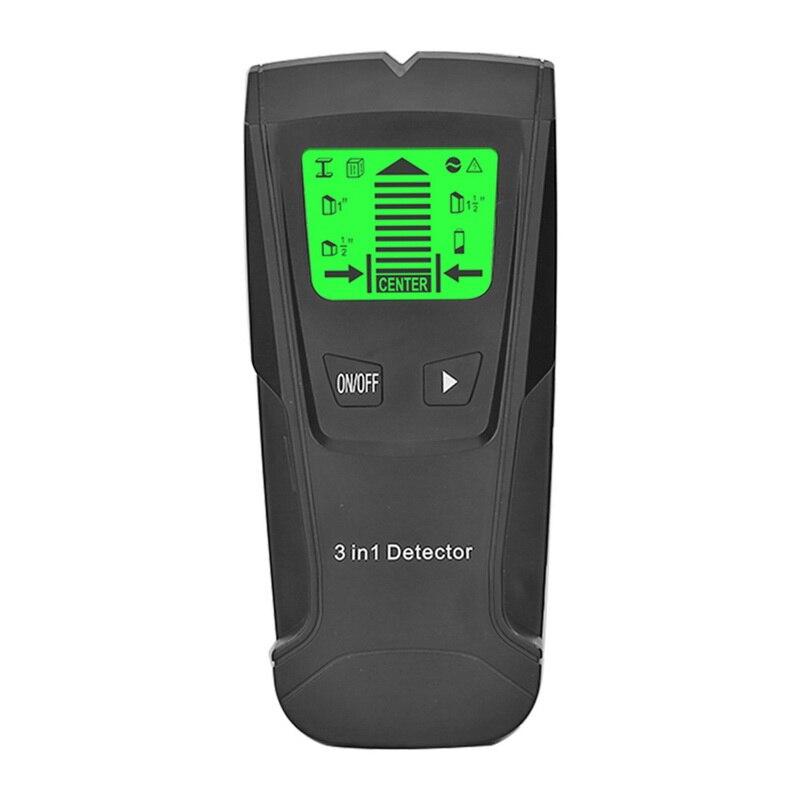 3 в 1 ручной профессиональный детектор глубины металла Pinpointer Стад Finder настенный сканер сенсор для провода обнаружения металлоискателей - Цвет: Розовое золото