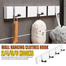 Hanger-Holder Coat-Hooks-Rack Wall-Hanging-Hanger Storage White/bamboo Home-Decor Vintage