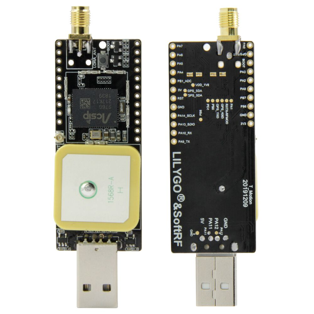 LILYGO®&SoftRF TTGO T-Motion S76G Lora Chip LORA 868Mhz Antenna GPS Antenna USB Connector Development Board