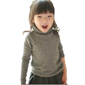 Jesienno-zimowy dziecięcy sweter z kaszmiru odzież dziecięca swetry chłopięce swetry dziecięce wydłużone swetry z wysokim dekoltem tanie i dobre opinie Ning Shu Qi CN (pochodzenie) COTTON Poliester Na co dzień Stałe REGULAR O-neck Unisex A112165 Pełna NONE Pasuje prawda na wymiar weź swój normalny rozmiar