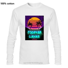 Print Casual Hotline Miami T-Shirt for Men Round Neck 100% Cotton T Shirts Long Sleeve Tee Graphic Clothes women t shirt