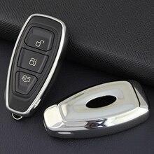 Smart Car Key Fob Cover Case Shell For Ford Focus Kuga Fiesta Ecosport Escape Silver фильтр масляный ford fiesta focus
