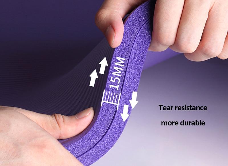 10mm Yoga Mat for Beginner with Position Line Non-slip Gym Yoga Mat Thicken Widen Men Women Yoga Exercise Dance Fitness Mat 15