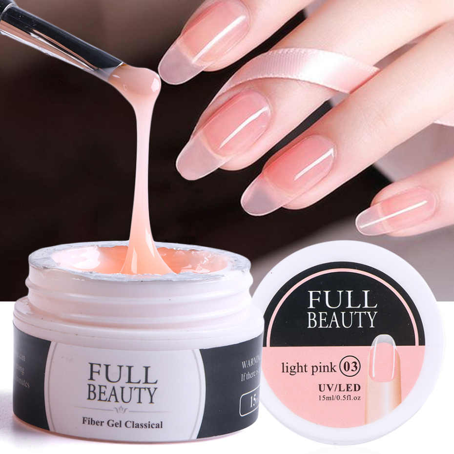 15Ml Quick Building Gel Voor Nagel Acryl Wit Clear Uv Builder Gel Manicure Nail Art Verlengen Formulieren Tips LA1623