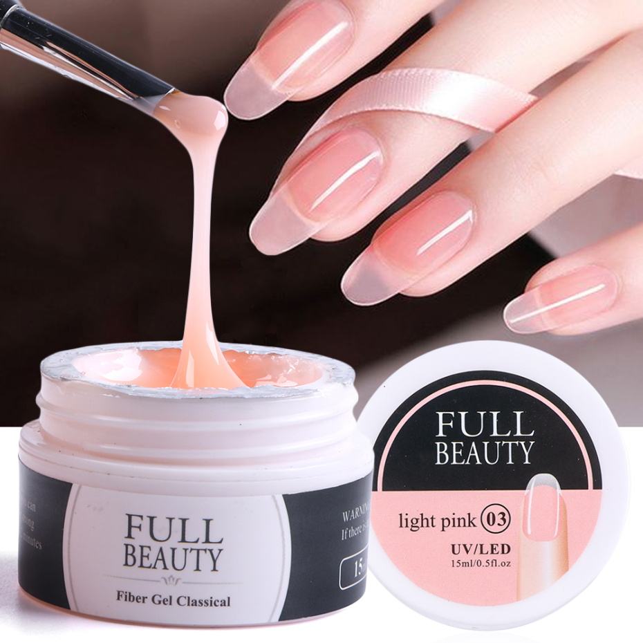 15ml Quick Building Gel for Nail Extension Acrylic White Clear UV Builder Gel Manicure Nail Art Prolong Forms Tips LA1623(China)