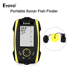 Eyoyo E4 Depth Range Portable Sonar Fish Finder River Lake Sea Bed Live New Contour 240ft/72m  Fishfinder Fishing