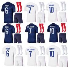 Футбольная форма для мужчин, европейская, французская, MBAPPE, GRIEZMANN, POGBA, KANTE, 2020, 2021