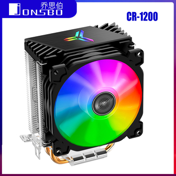 Jonsbo CR1200 2 Heat Pipes Tower CPU Cooler RGB 3Pin Cooling Fans Heatsink 9cm color soft light fan CPU Cooler Streamer radiator cpu heatsink aluminum computer radiator water cooling cooler 240mm 2 fans drop shipping