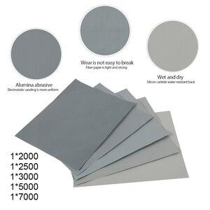 Image 3 - 5 חתיכות נייר זכוכית סט 2000 2500 3000 5000 7000 Grit מלטש נייר מים/יבש שוחק SandPapers