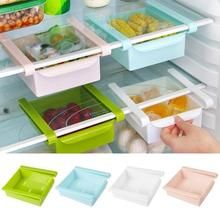 Slide Kitchen Fridge Freezer Space Saver Organizer Storage Rack Shelf Holder New Containers