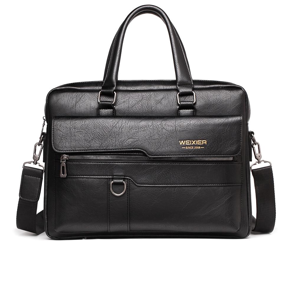 Classic Men Briefcase Laege Bag For 15.6 Inch Laptop Men Shoulder Bags For Man Handbags Briefcases Brown Male Business Bags