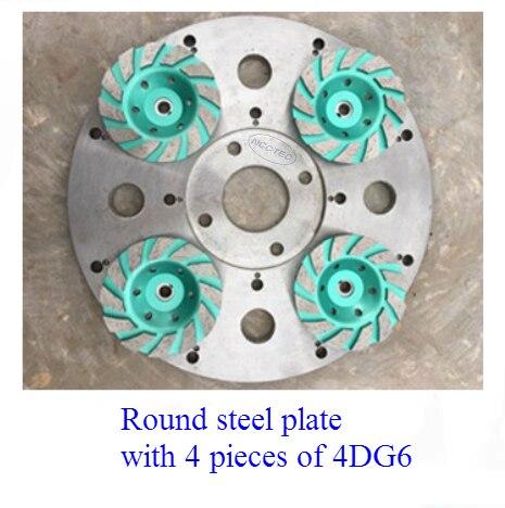 """13,"""" круговой стальной тяжелый диск без ржавчины для Алмазный пол шлифовальный станок   330 мм шасси Круглая Пластина для установки алмазных инструментов - Цвет: steel plate 4DG6"""