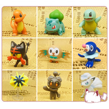4-6CM Anime Pokemoned Image Toys Mini Figures Model Pikachu Charmander Squirtle Model Collections Decoration Kids Birthday Gifts