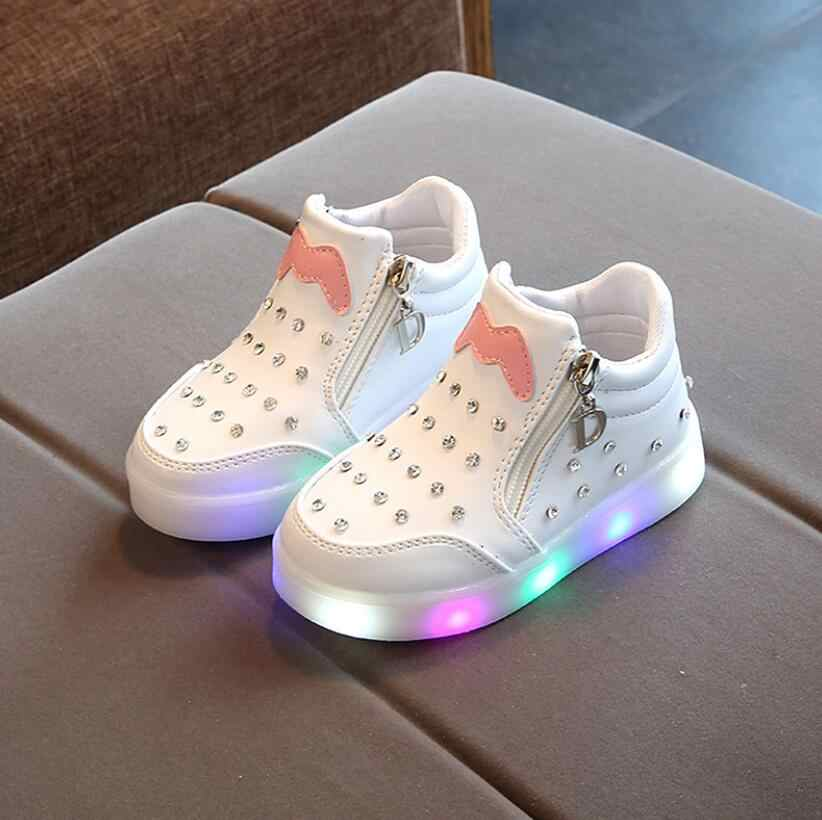 Girls LED Shoes Cute Baby Sneakers
