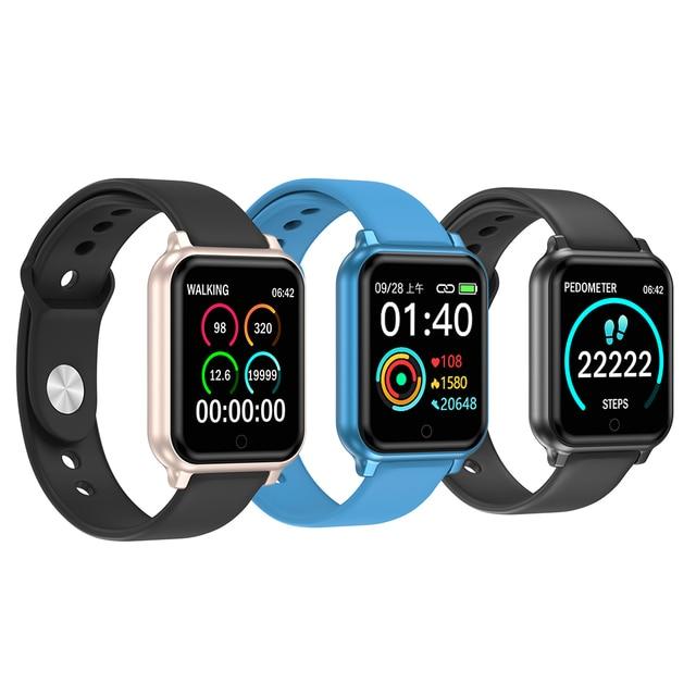 B58 inteligentny zegarek mężczyźni kobiety tętno monitorowanie ciśnienia krwi B57 Plus Q9 P68 Smartwatch opaska monitorująca aktywność fizyczną dla iPhone Xiaomi