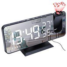 Relógio com projeção digital relógio de mesa projeção usb wake up led eletrônico relógio de mesa previsão despertador