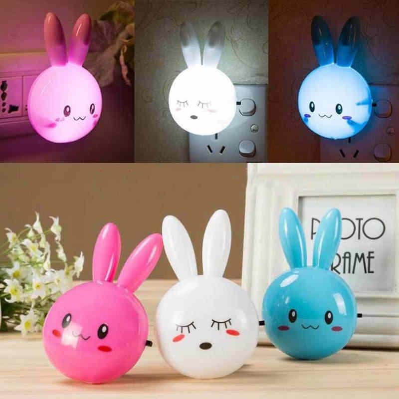 AC110-220V gece lambası çocuk ışık bebek kreş lamba yatak odası uyku LED ışık anahtarı duvar gece lambası çocuklar için kız oyuncak