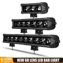 Lentille 6D 8 14 20 27 34 40 pouces, lumière de travail 4x4, barre Led pour camion tout-terrain 4WD ATV 12V 24V