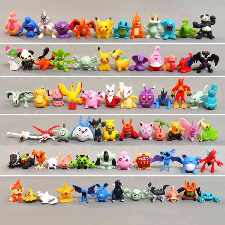 24/48/72/96/120/144 Pokemon Go No Repeat Collection Dolls Action Figures Model Toy 2.5-4cm Pikachu Anime Toy For Kids Xmas Gifts