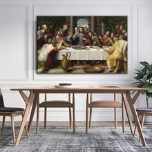 Son akşam yemeği tuval resimleri reprodüksiyon klasik duvar sanatı tuval posterler hıristiyan dekoratif resimler ev dekor Cuadros