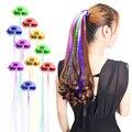 LED Hair Braid Clip Plait Luminous Headwear Glowing Hair Wig Fiber Optic Pigtail Flashing Lights for Party Supplies Bar Dancing