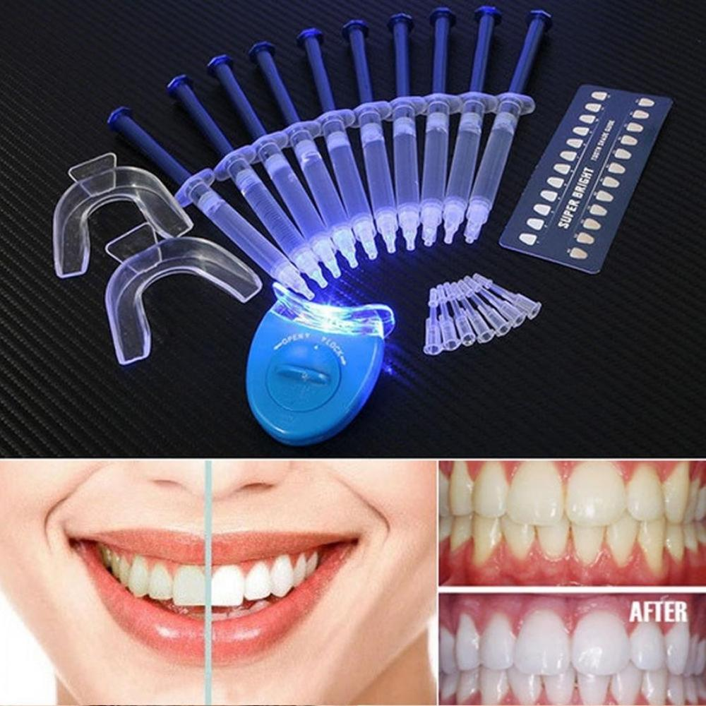 Protable Cold Light Teeth Whitening Kit Oral Hygiene Tooth Whitener Bleaching White With Carbamide Peroxide Home Use