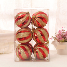 12 Pcs Christmas Xmas Tree Ball Hand-painted High-end Glitter Bauble Balls Decorations Pendants for Home Decor