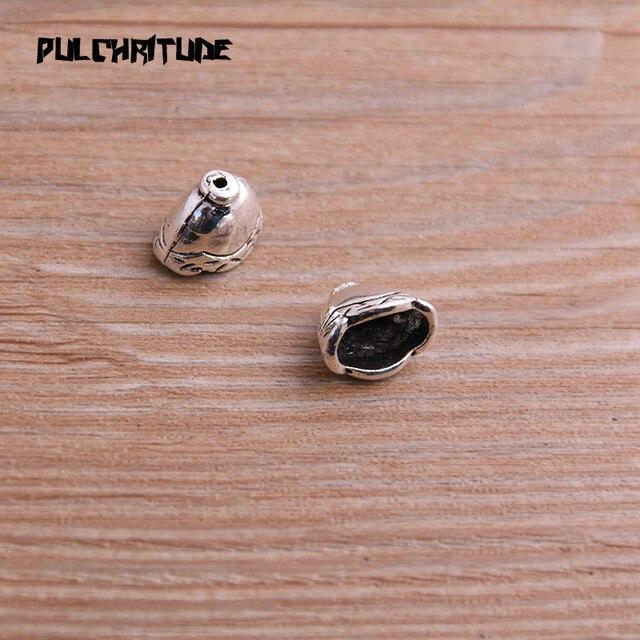 20 pièces 8*8*12mm deux couleurs réceptacle creux perle bouchon bricolage espacé bijoux accessoires breloques pour la fabrication de bijoux