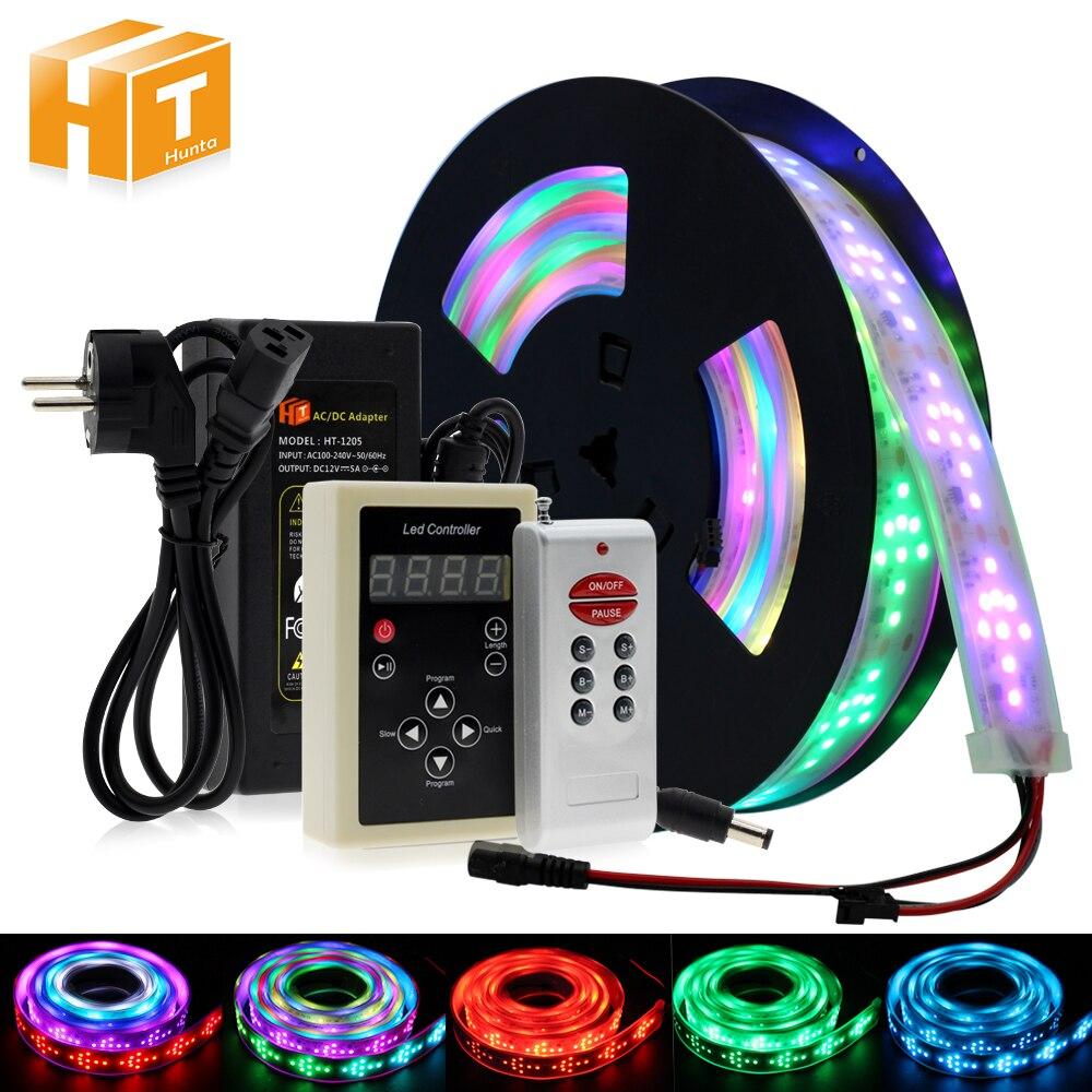 Светодиодный скачки светильник RGB Цвет беговые кроссовки nikeeinglys Сменные Светодиодные ленты 5 м с 133 программа RF контроллер Праздничные огни Decoracion Фея светильник.