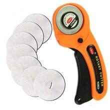 Кожевенное ремесло 45 мм роторный резак для резки кожи резак для ткани круговое лезвие DIY лоскутное шитье квилтинг Fit Olfa Cut