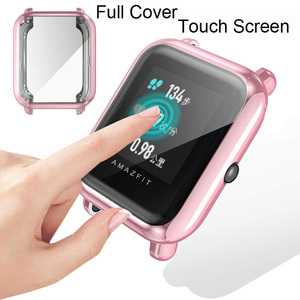 Image 3 - Watchband Case For Xiaomi Amazfit GTS 2 Mini Bip U Pro S Lite Strap Touch Screen Protector Milanese Stainless Steel Wristband