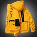 Куртка мужская с капюшоном, уличная одежда в стиле пэчворк, повседневное Свободное пальто в стиле хип-хоп с рисунком, большие размеры 3XL, вес...