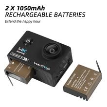 1PCS 2PCS Batteries for VanTop Moment D4UQ / 4U Action Camera Rechargable Battery Accessories