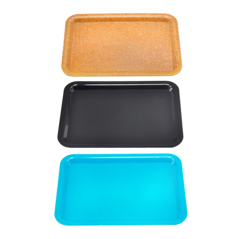 Plastic Food  Storage Tray Fruit Snacks Plate Tobacco Cigarette Rolling Tray Jewelry Display Tray Household Storage Supplies