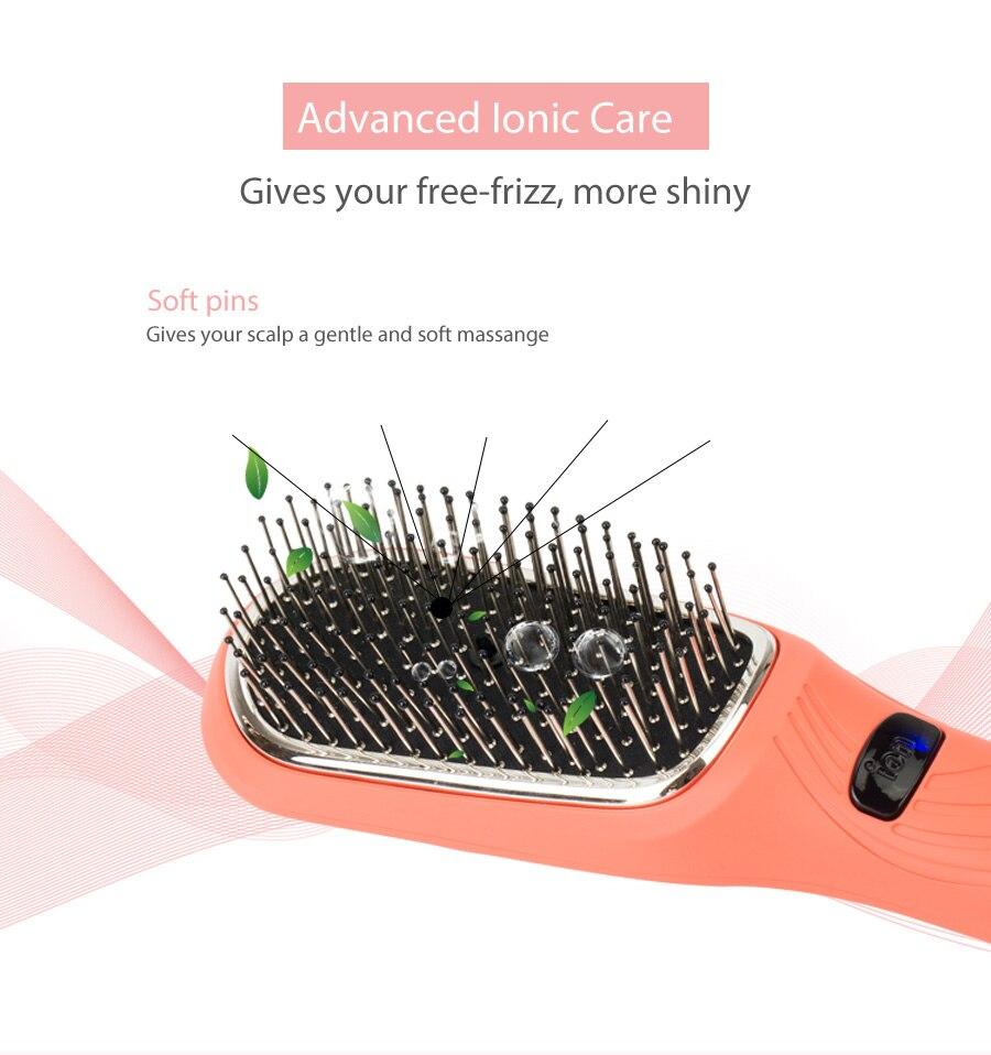 Image 2 - HairDiva вибромассажер для волос на голове ионная щетка для волос Устранить волосы статические помощь для отрастания волос Гладкие волосы    -