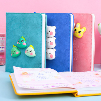 A5 Kawaii Notebook Travel Diary Weekly Planner Creative DIY Hand Book Cute Decompression Book Set with Pen Tape Stationery Gift creative stationery elegant flower chinese wind diary horizontal line small travel planner diary book notebook dd1358